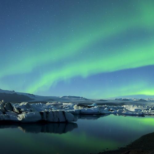 northern lights pano jokulsarlon glacier lagoon watermark by bradscottvisuals
