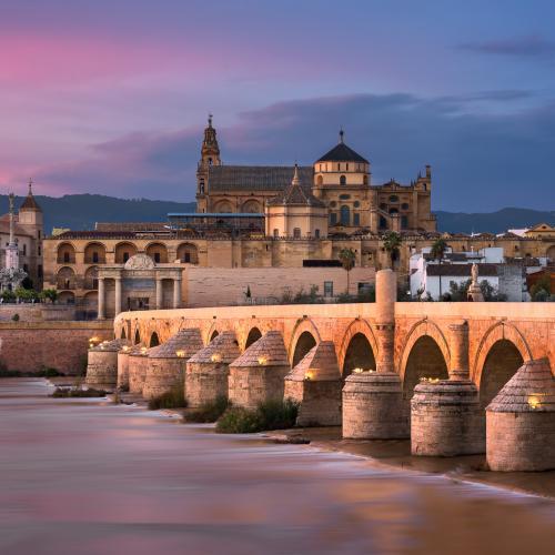 Roman-Bridge-and-Cordoba-Skyline-at-Sunset-Andalusia-Spain by ansharphoto