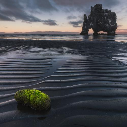 Black Sand at Hvitserkur by Iurie Belegurschi