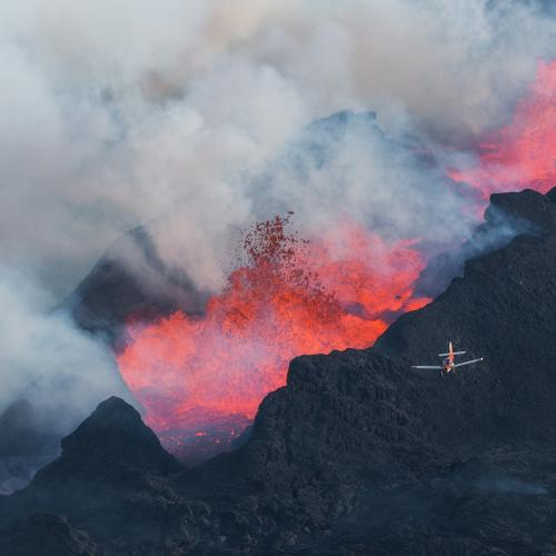 Holuhraun Eruption in Iceland by Iurie Belegurschi