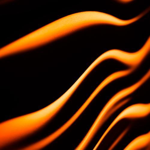 Rippled Silk Fabric [Orange] by Broken Canon