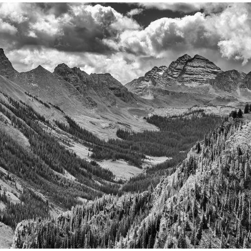 The Maroon Bells in Black & White by George