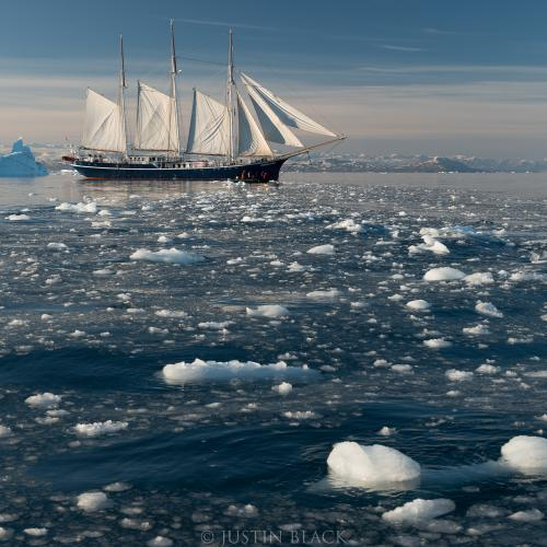 Setting Sail, East Greenland by Justin Black