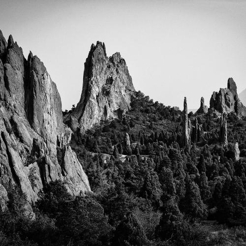 Garden of the Gods-BW by Randy A. Myers