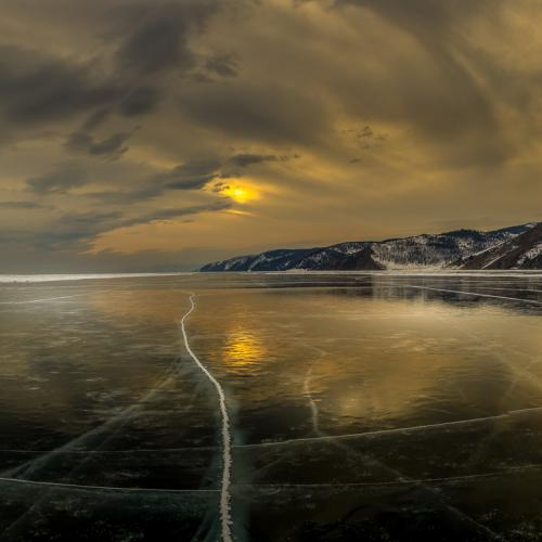 Sunset over the Lake Baikal by Tim Vollmer