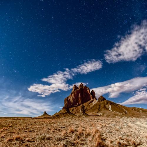 Shiprock Under Moonlight by Gary R. Hook