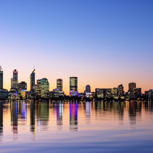 Perth City by Night by Susan Moss
