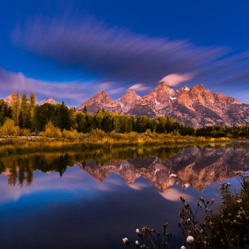Time Stops Over Tetons by Ed