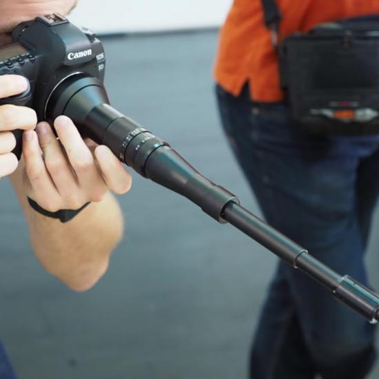 """As Far as Crazy Camera Lenses Go, This """"Snorkel"""" Lens Beats Them All"""
