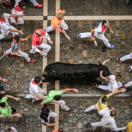 American Pride: Man Gets Gored During Running of the Bulls Over a Selfie