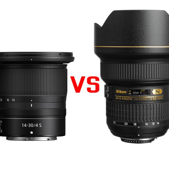Nikon Z 14-30mm f/4 S vs Nikon AF-S 14-24mm f/2.8