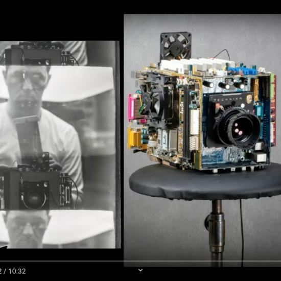 """This Photographer Created a Huge """"Frankenstein"""" Camera From His 20-Year-Old Computer"""