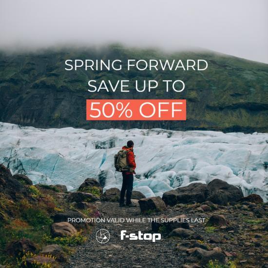 Score HUGE Savings on Gear in f-stop's Spring Forward Sale