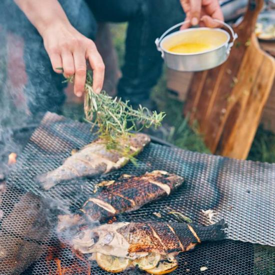 Campfire Fish Recipe: Rosemary Trout With Cast-Iron Charred Asparagus